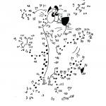 Kleurplaat cheetah met nummertjes